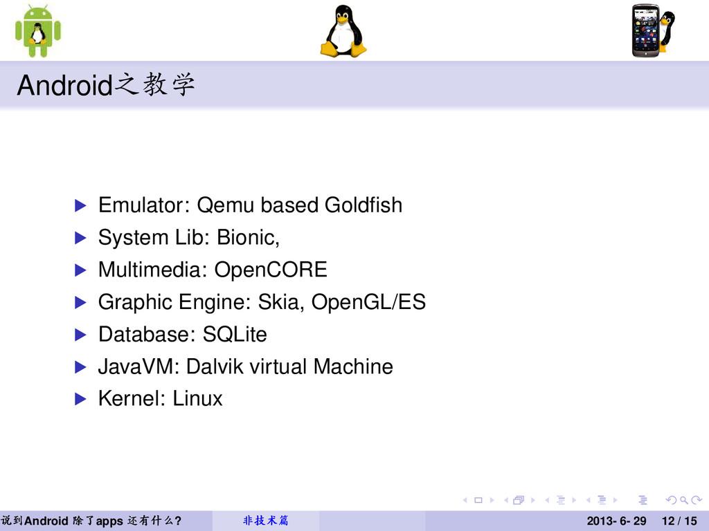 Android之教学 Emulator: Qemu based Goldfish System ...