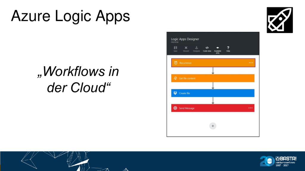 "Azure Logic Apps ""Workflows in der Cloud"""
