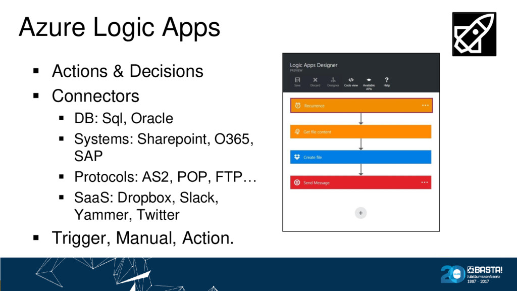 Azure Logic Apps ▪ Actions & Decisions ▪ Connec...