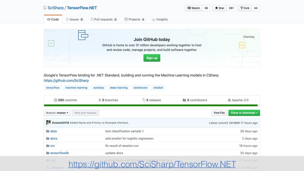 https://github.com/SciSharp/TensorFlow.NET