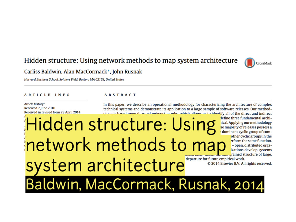 Hidden structure: Using network methods to map ...