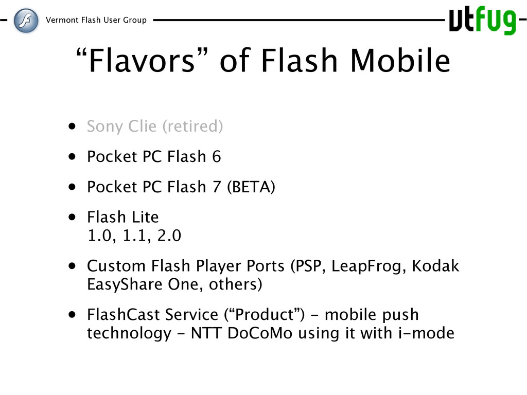 """Vermont Flash User Group """"Flavors"""" of Flash Mob..."""