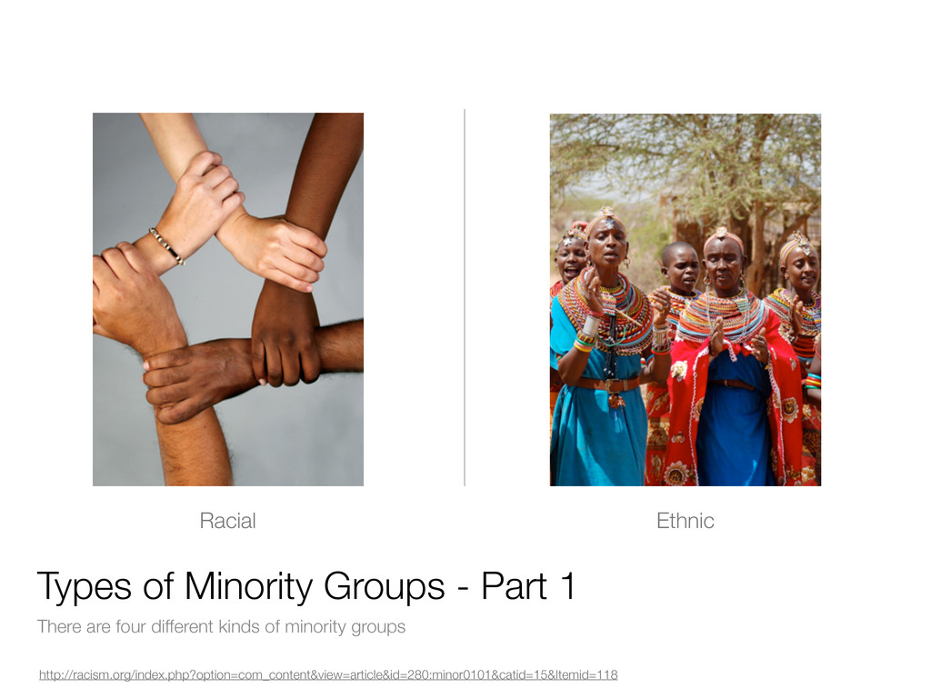 There are four different kinds of minority grou...