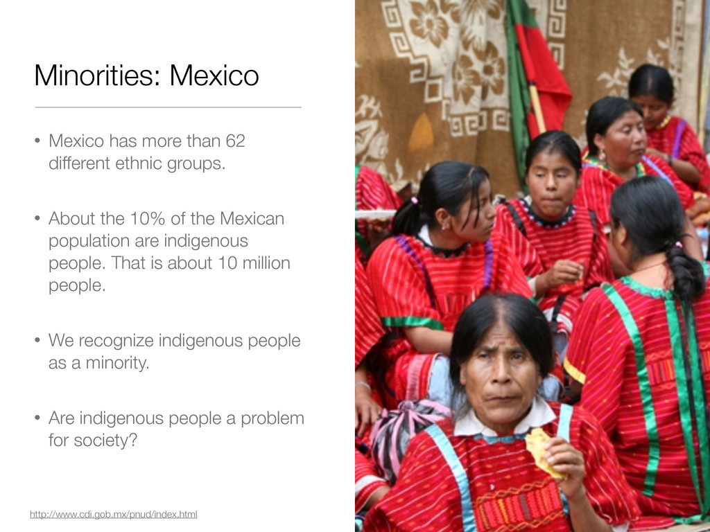 • Mexico has more than 62 different ethnic grou...