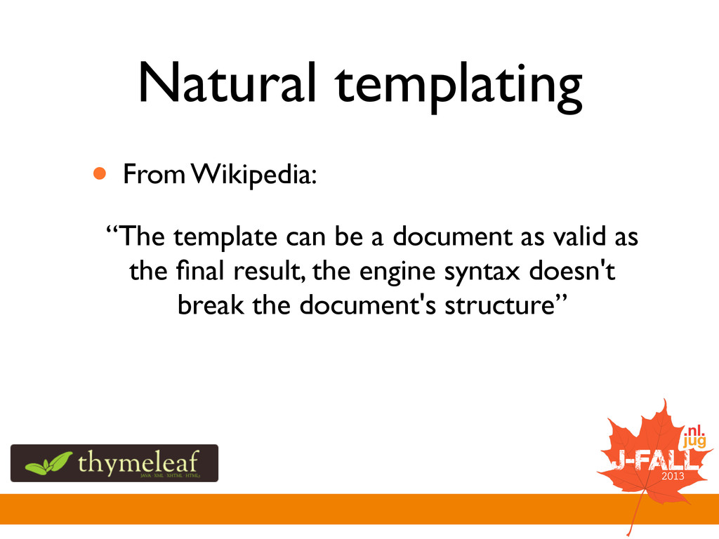 """Natural templating • From Wikipedia: """"The templ..."""