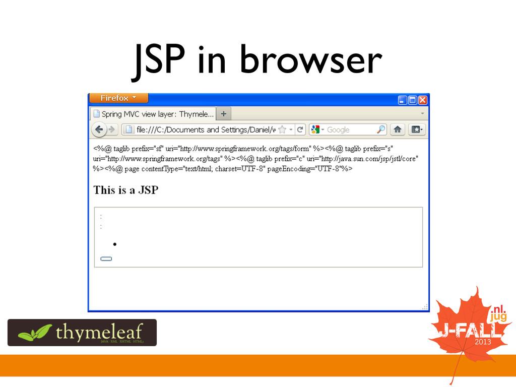 JSP in browser