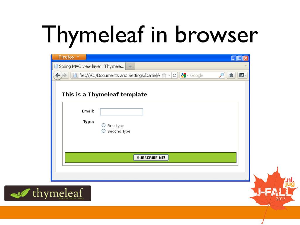 Thymeleaf in browser