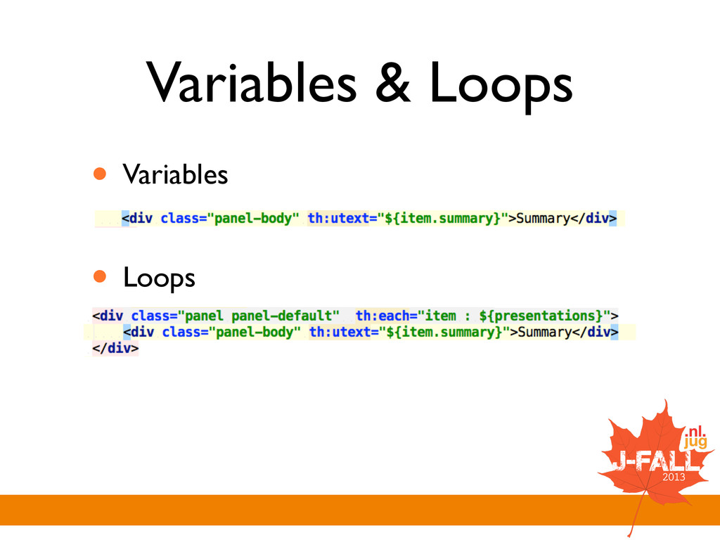 Variables & Loops • Variables  ! • Loops