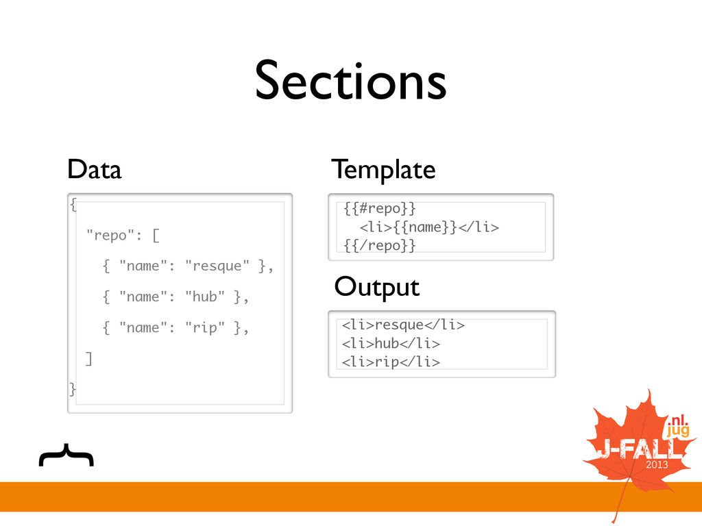 """Sections { """"repo"""": [ { """"name"""": """"resque"""" }, { """"n..."""