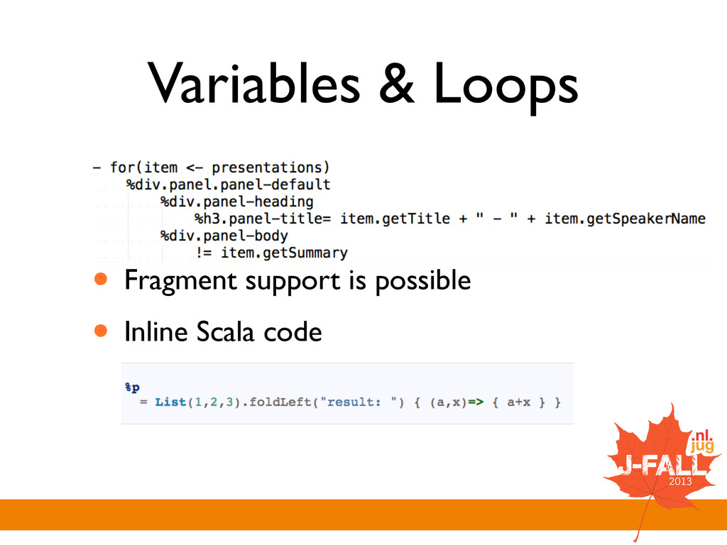 Variables & Loops ! ! • Fragment support is pos...