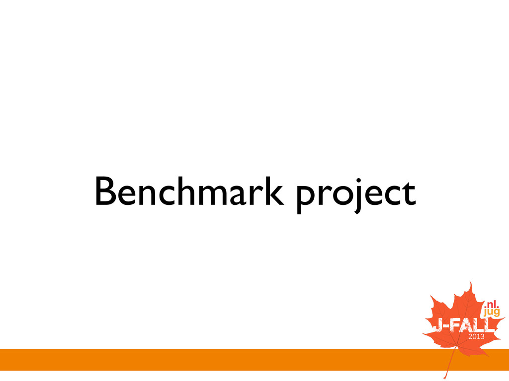 Benchmark project