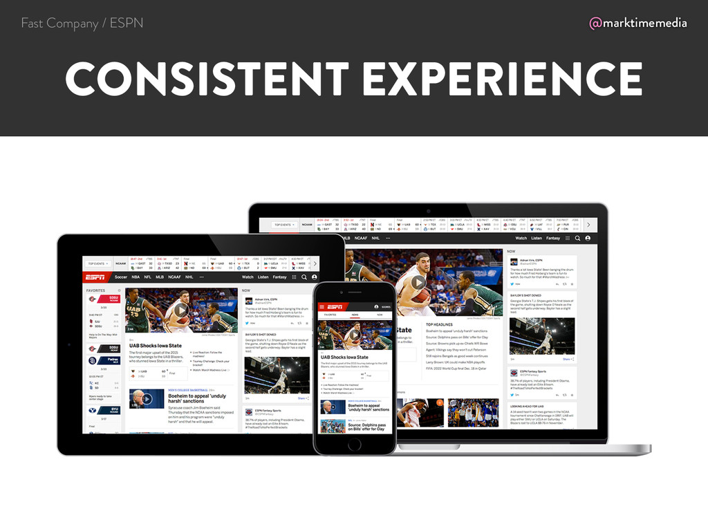 @marktimemedia CONSISTENT EXPERIENCE Fast Compa...