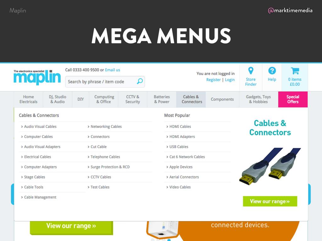 @marktimemedia MEGA MENUS Maplin