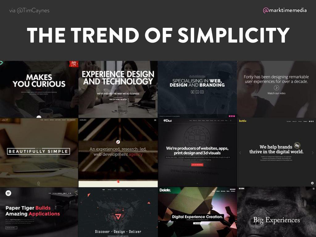 @marktimemedia THE TREND OF SIMPLICITY via @Tim...