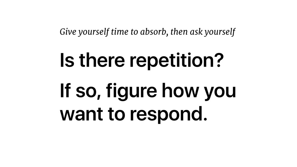 Is there repetition? If so, figure how you want...