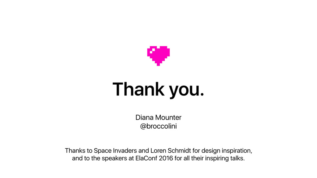 Thank you. Diana Mounter @broccolini Thanks to ...