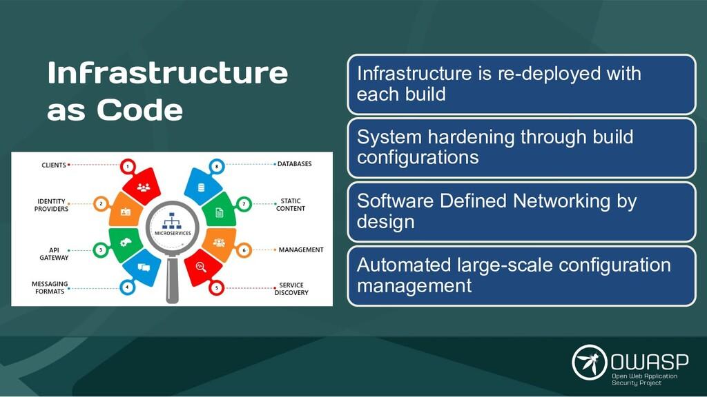 Infrastructure as Code Infrastructure is re-dep...
