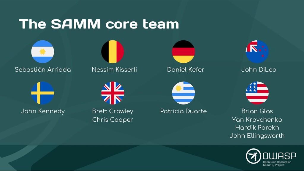 The SAMM core team Nessim Kisserli Brett Crawle...