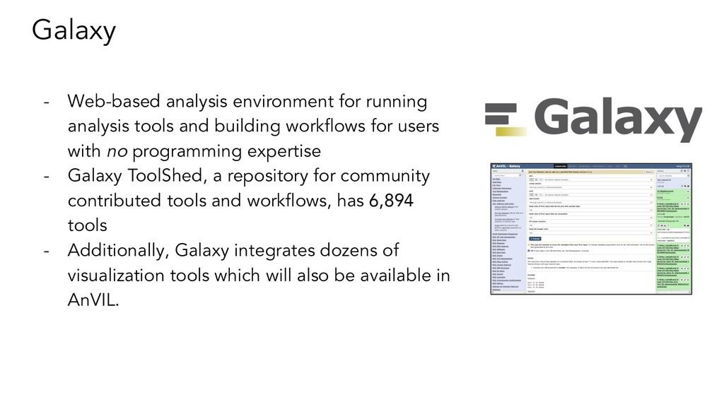 Galaxy - Web-based analysis environment for run...