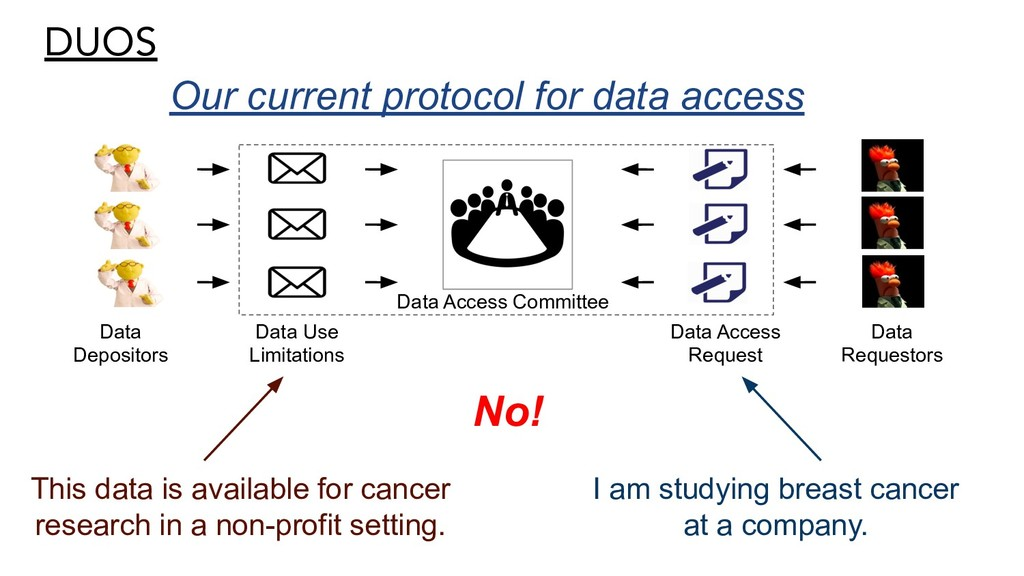 DUOS Our current protocol for data access Data ...