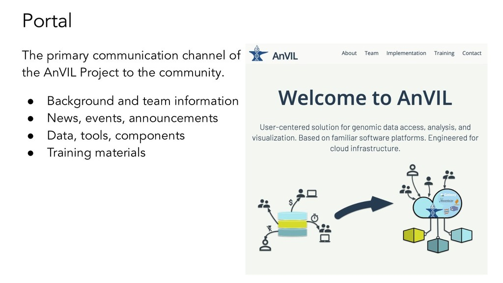 Portal The primary communication channel of the...