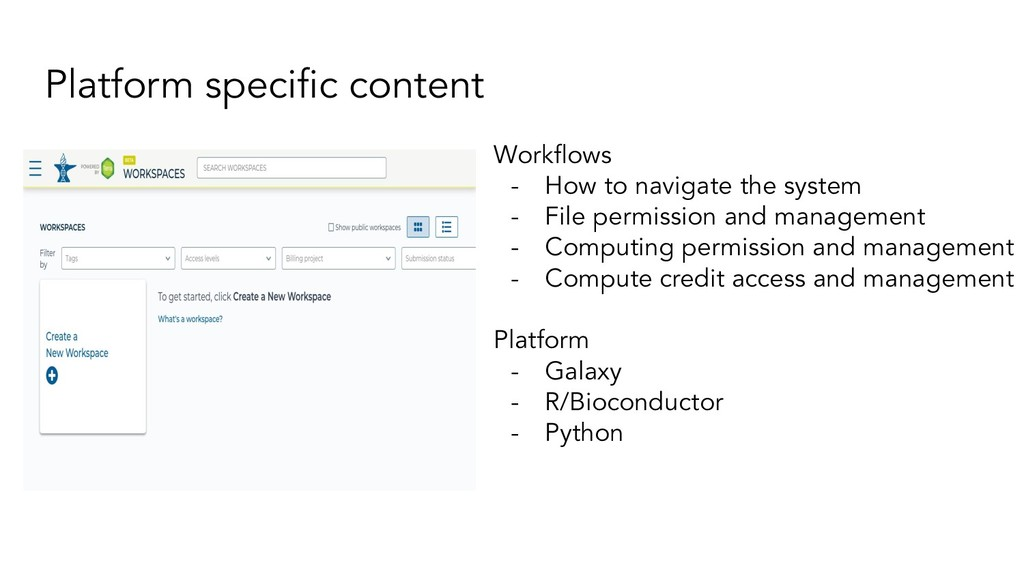 Platform specific content Workflows - How to navi...