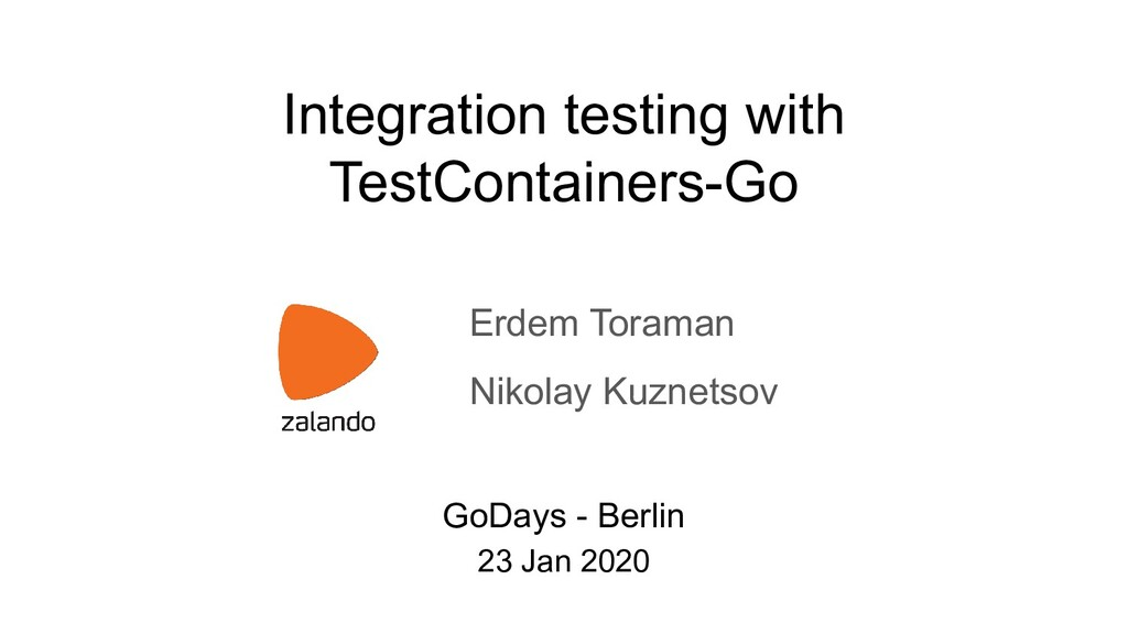Integration testing with TestСontainers-Go Erde...