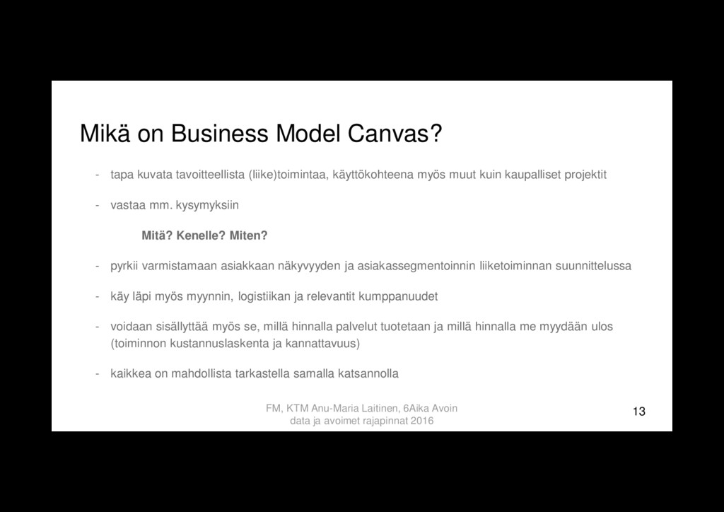 Mikä on Business Model Canvas? - tapa kuvata ta...