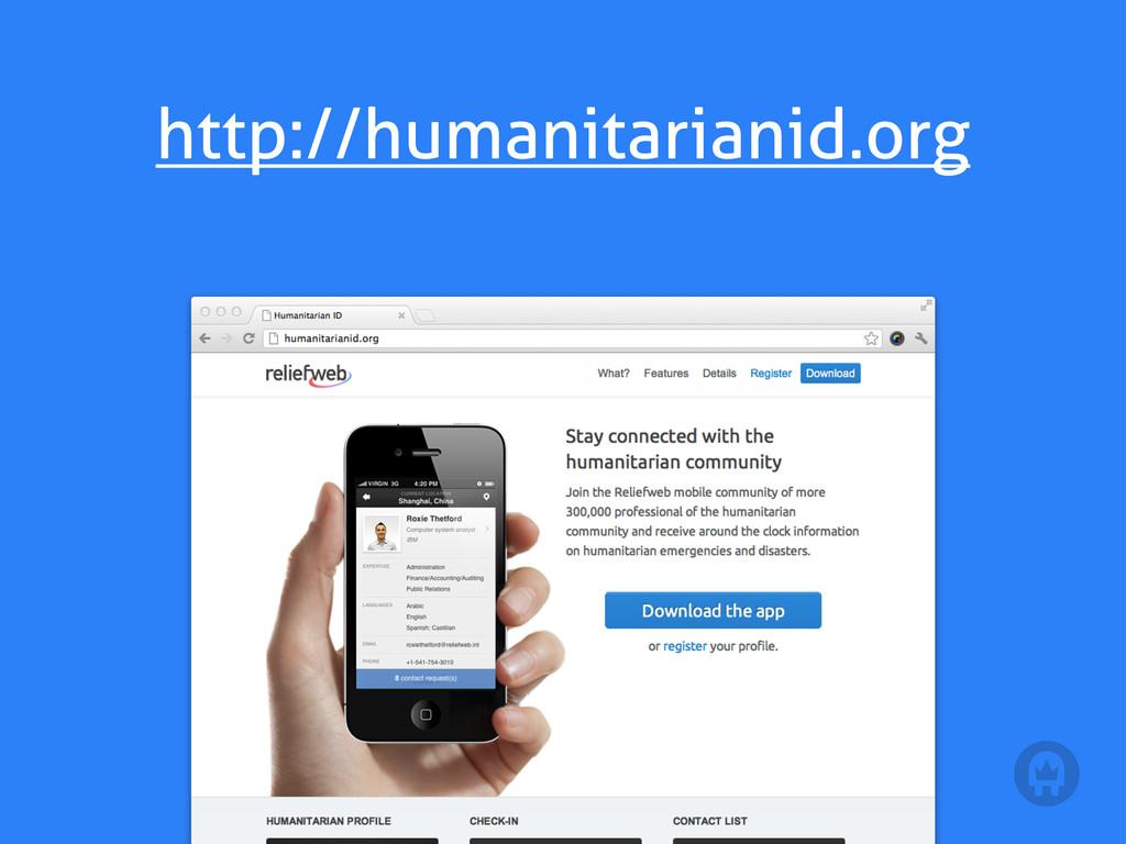 http://humanitarianid.org