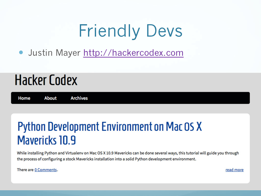 Friendly Devs —  Justin Mayer http://hackercod...