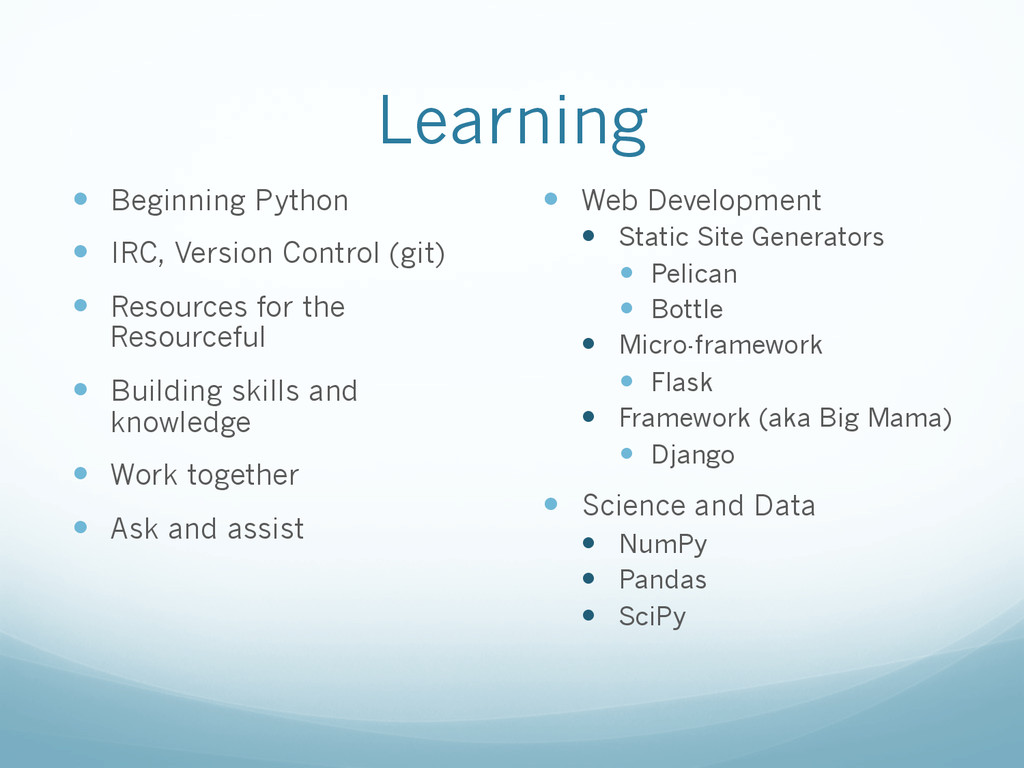 Learning —  Beginning Python —  IRC, Version ...