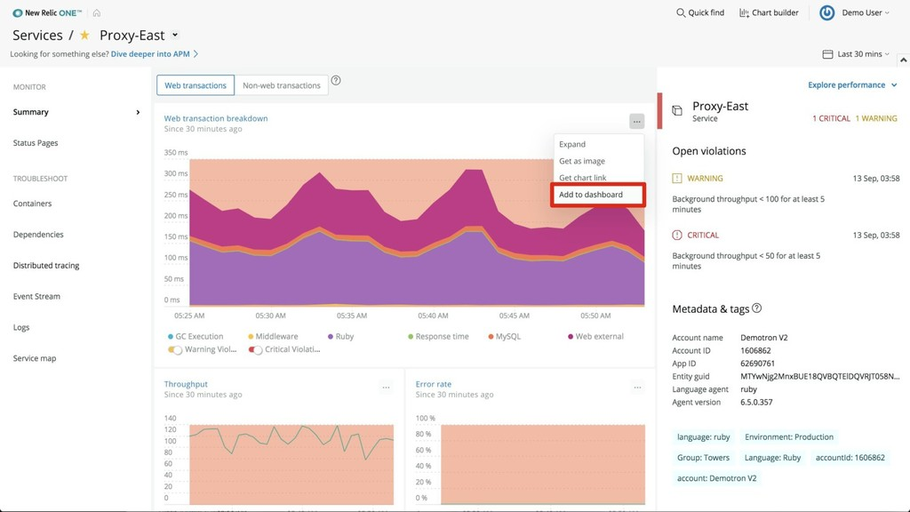 ©2008–18 New Relic, Inc. All rights reserved 88
