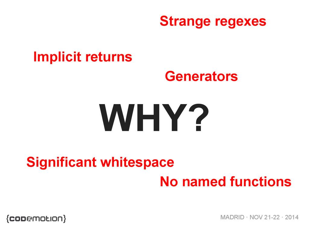 MADRID · NOV 21-22 · 2014 WHY? Implicit returns...