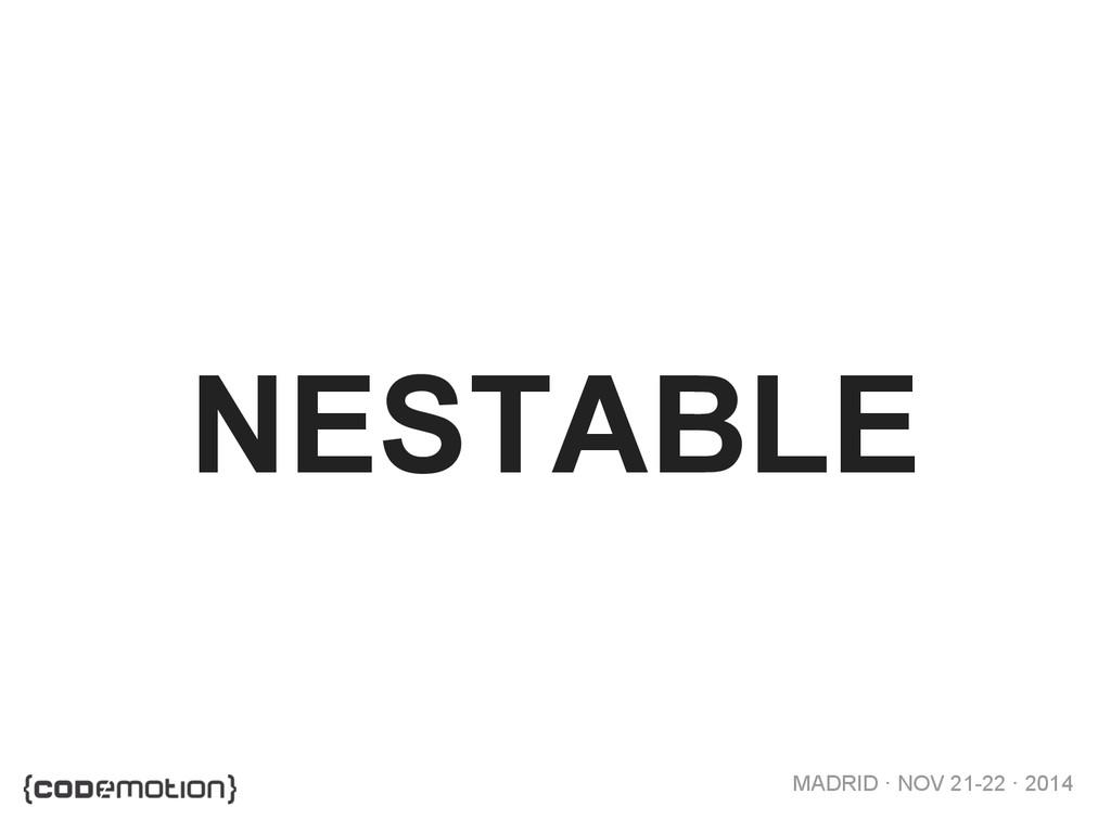 MADRID · NOV 21-22 · 2014 NESTABLE