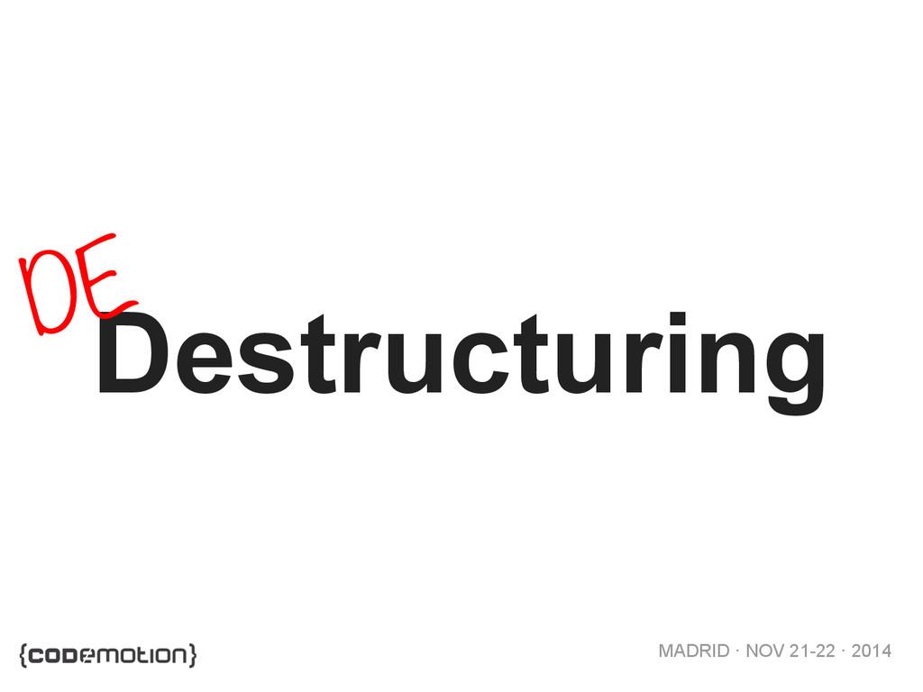 MADRID · NOV 21-22 · 2014 Destructuring DE