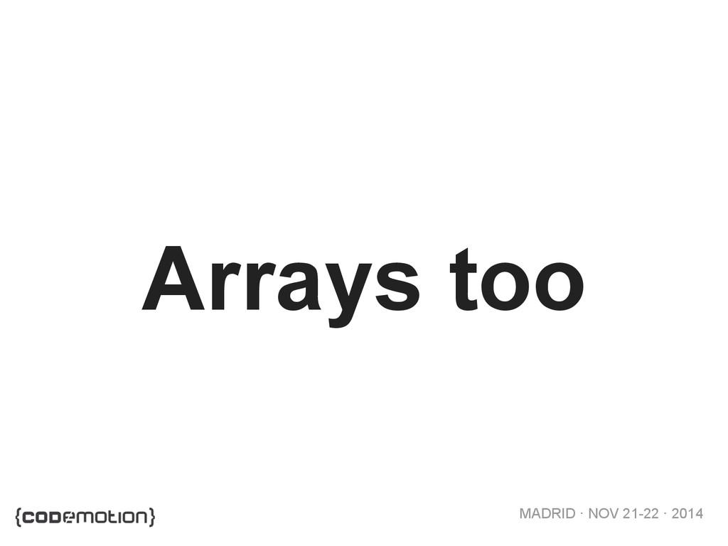 MADRID · NOV 21-22 · 2014 Arrays too