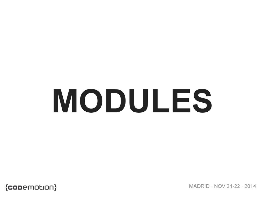 MADRID · NOV 21-22 · 2014 MODULES
