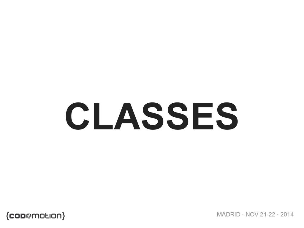 MADRID · NOV 21-22 · 2014 CLASSES