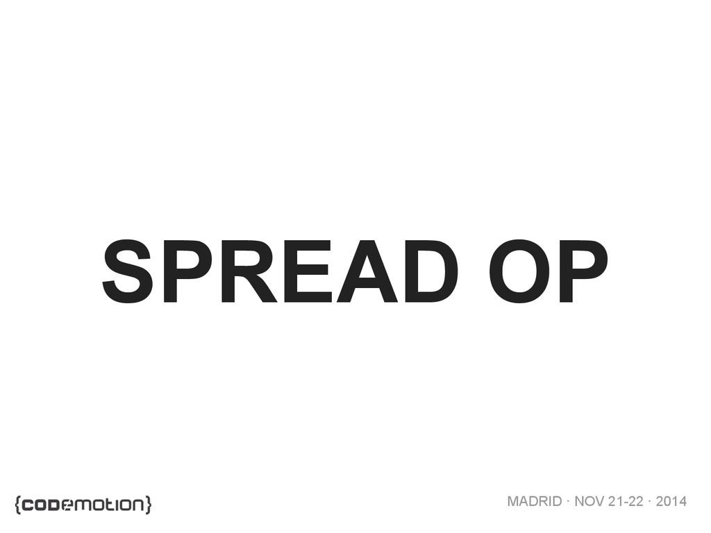 MADRID · NOV 21-22 · 2014 SPREAD OP