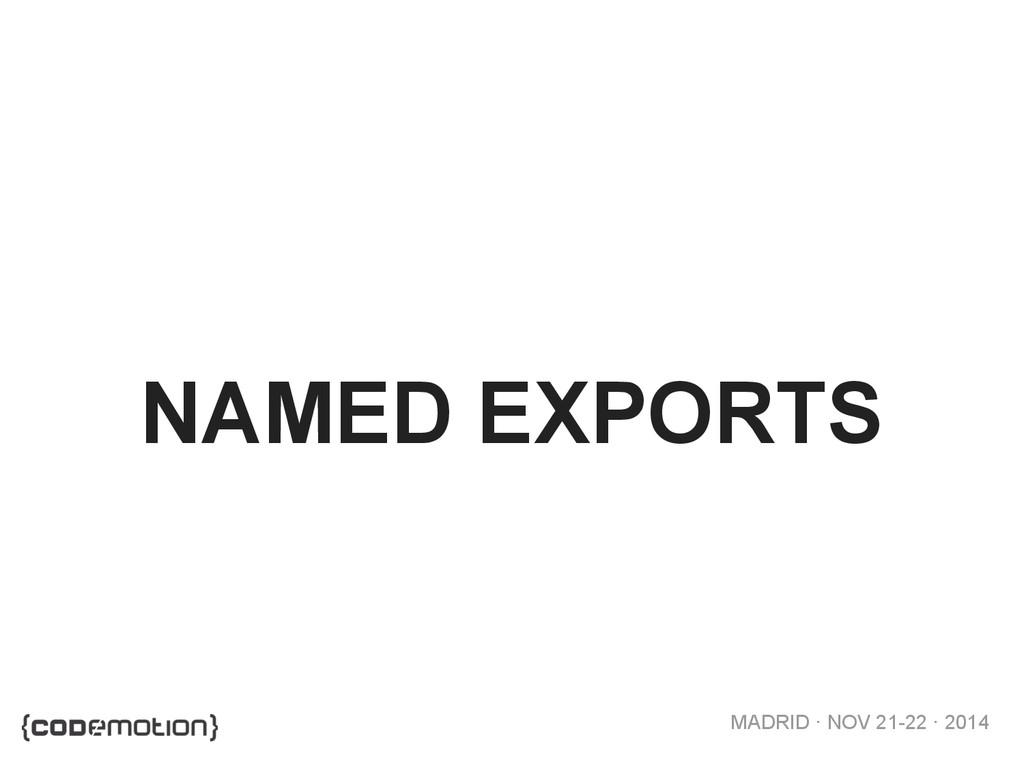 MADRID · NOV 21-22 · 2014 NAMED EXPORTS