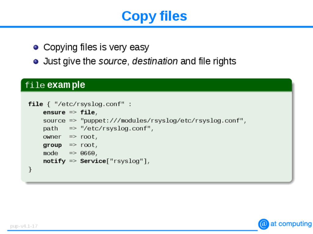 Copy files Copying files is very easy Just give...