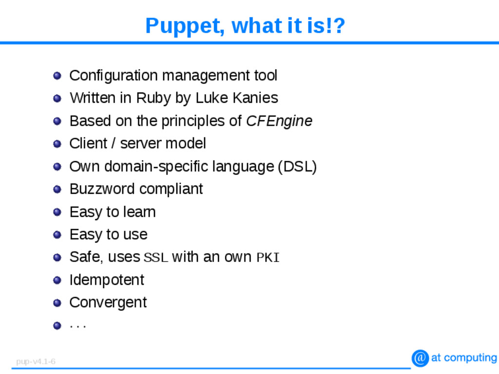 Puppet, what it is!? Configuration management t...