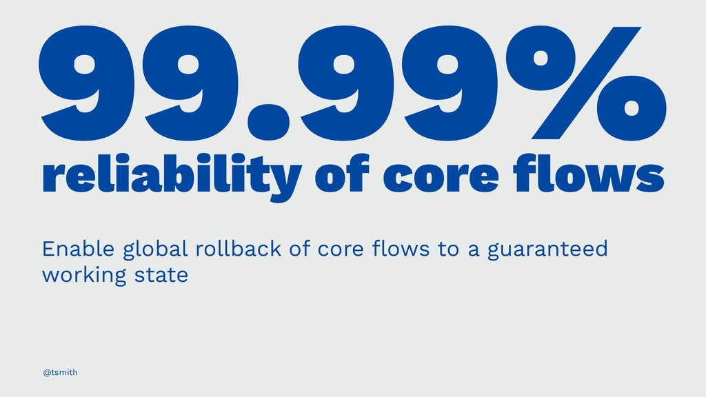 99.99% reliability of core flows Enable global r...