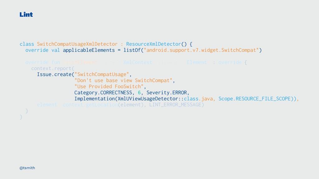 Lint class SwitchCompatUsageXmlDetector : Resou...