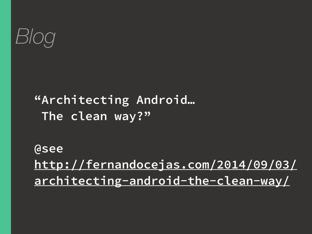 """Blog """"Architecting Android… The clean way?"""" @se..."""