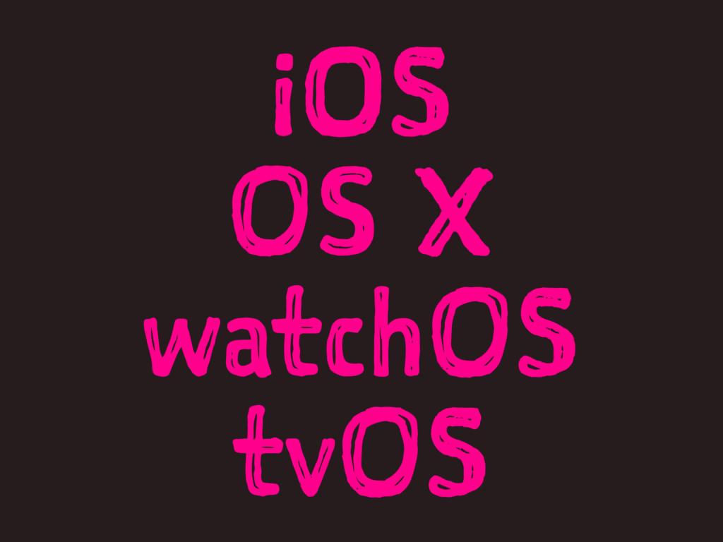 iOS OS X watchOS tvOS