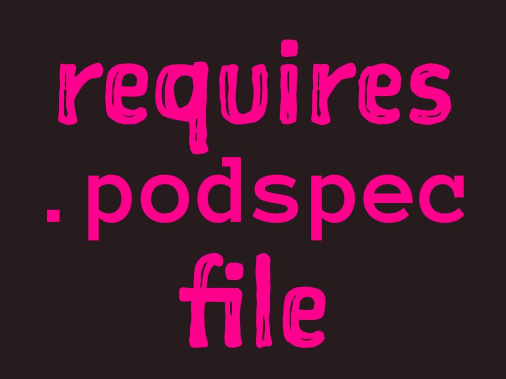 requires .podspec file