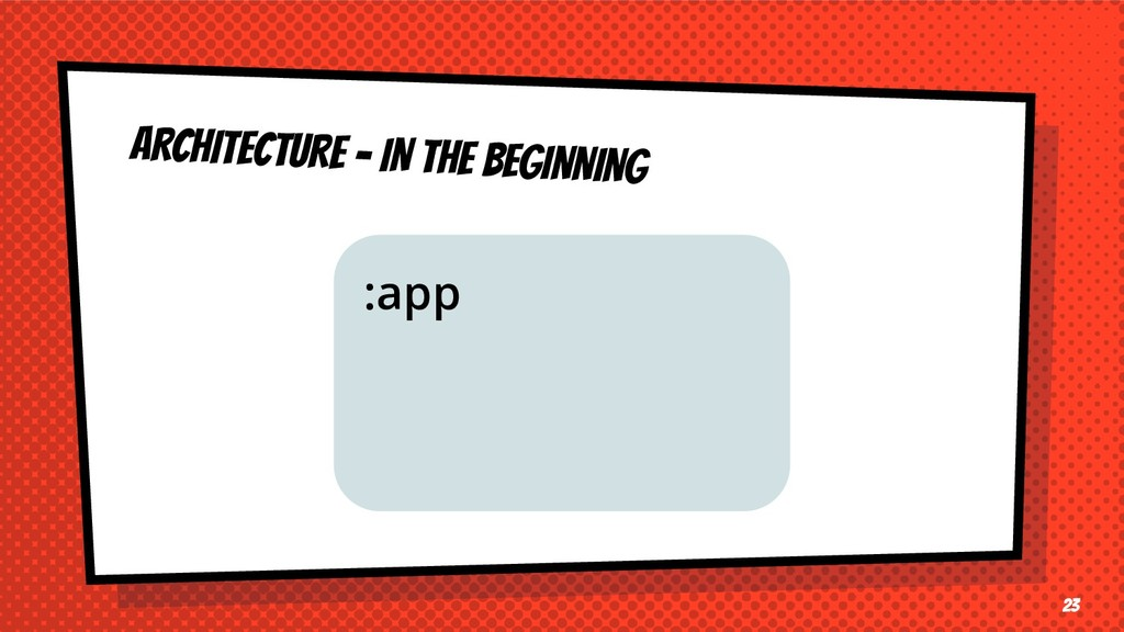 ARCHITECTURE - IN THE BEGINNING 23 :app