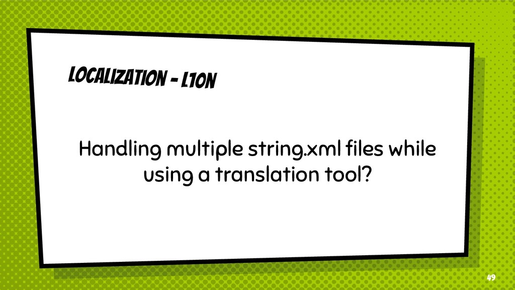 49 Localization - l10n Handling multiple string...