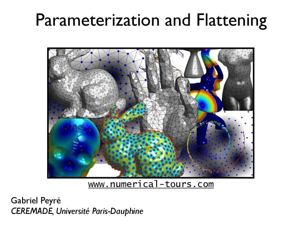 Parameterization and Flattening Gabriel Peyré C...